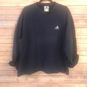 Navy Adidas distressed sweatshirt